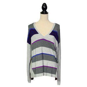 Lane Bryant Gray V Neck Sweater Plus 18/20
